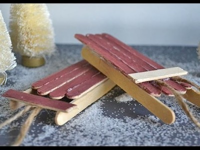 How to Make Popsicle Stick Christmas Sleigh Ornaments