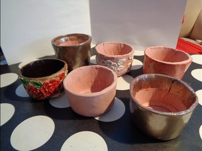 How to Make Pots from Terracotta Air Dry Clay