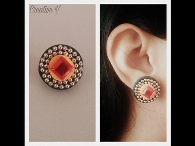 How to Make Quilling Stud Earrings.Design 13.Tutorial