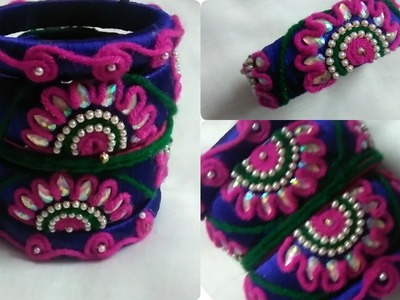 How to make silk thread bangles at home. !!