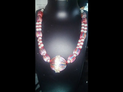 How to make silk thread necklace latest design in home easy way