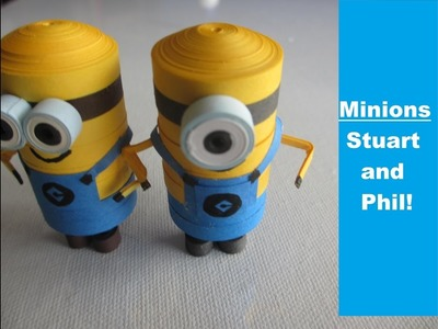 How to make your Quilling Minions in 4 minutes !! | DIY