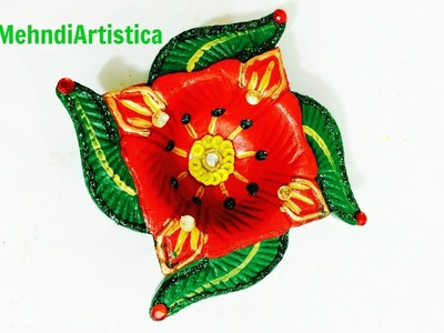 How To Paint Diya To Make It Beautiful Easy Beautiful Diya Decoration Ideas For Diwali Festival