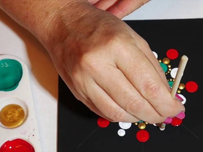 How to paint rock mandalas #4-  Christmas design