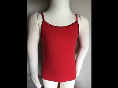 How to sew a camisole, girls, to support your sewing