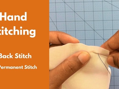 How to simple Hand Stitch - Back Stitch (permanent stitch) - Sewing for Beginners