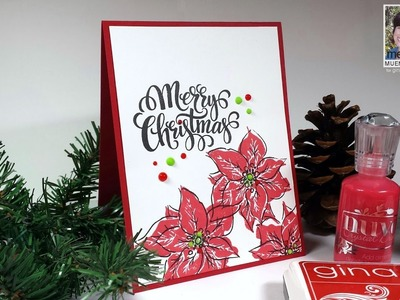 How to Stamp Stylish Two and Three Step Poinsettias