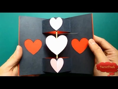 Learn how to make a greeting card with a spinning heart - Twirling heart valentine's card