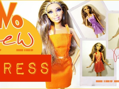 No Sew Doll Dress | No Sew Doll Clothes - How to Make a No Sew Doll Dress