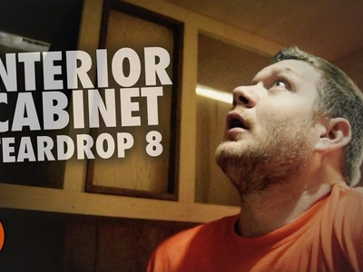 Overhead cabinet like no other   How to build a Teardrop Trailer #8