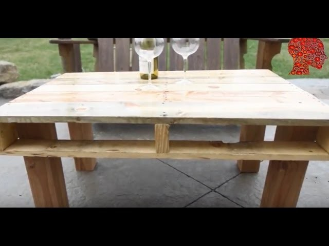 Woodworking # 2 - DIY How to Make an Outdoor Pallet Table - Woodwork
