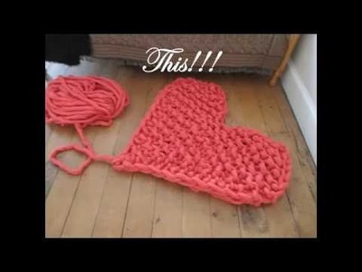 Arm Knitting  Heart Blanket Tutorial