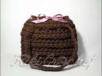 Crochet Bag with Half Double Crochet Rib Stitch