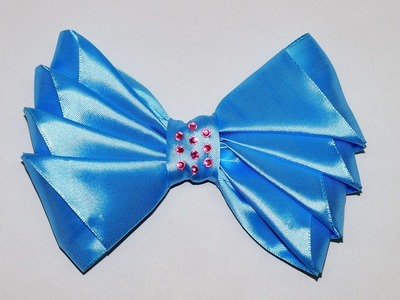 Do it yourself crafts - How to Make Simple Easy Bow. Ribbon Hair Bow Tutorial. DIY beauty and easy