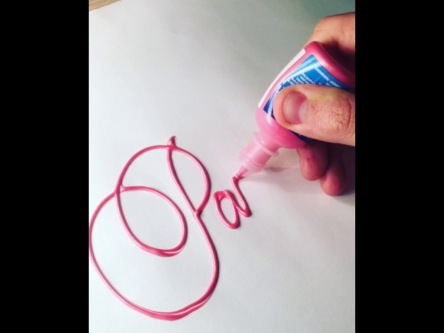 How to: Calligraphy tutorial with paint: Pink Panther