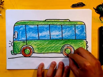 How to draw a Bus. Art for Kids