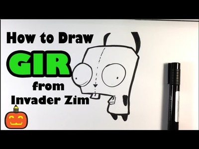 How to Draw Gir from Invader Zim - Halloween Drawings