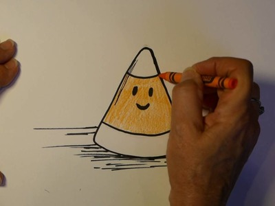 How to Draw Halloween Cartoon Candy Corn