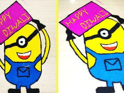 How to Draw Minion Rangoli for Diwali 2016 Exclusive By KreativeVisionFilms