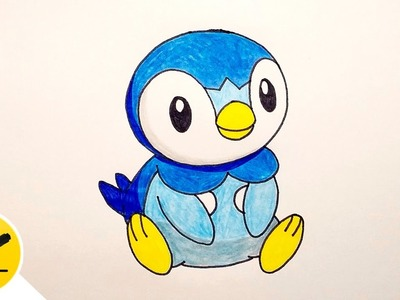 How to Draw Piplup (Pokemon) - Step by Step
