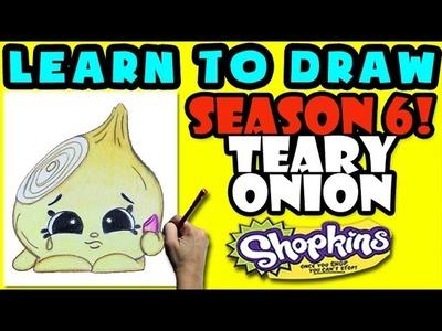 How To Draw Shopkins SEASON 6: Teary Onion, Step By Step Season 6 Shopkins Drawing Shopkins