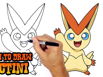 How to Draw Victini (Pokemon)- Art Lesson for Kids
