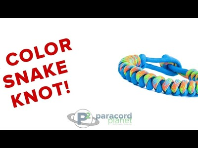 How To Make A 2 Color Snake Knot Bracelet - Paracord Planet Tutorial