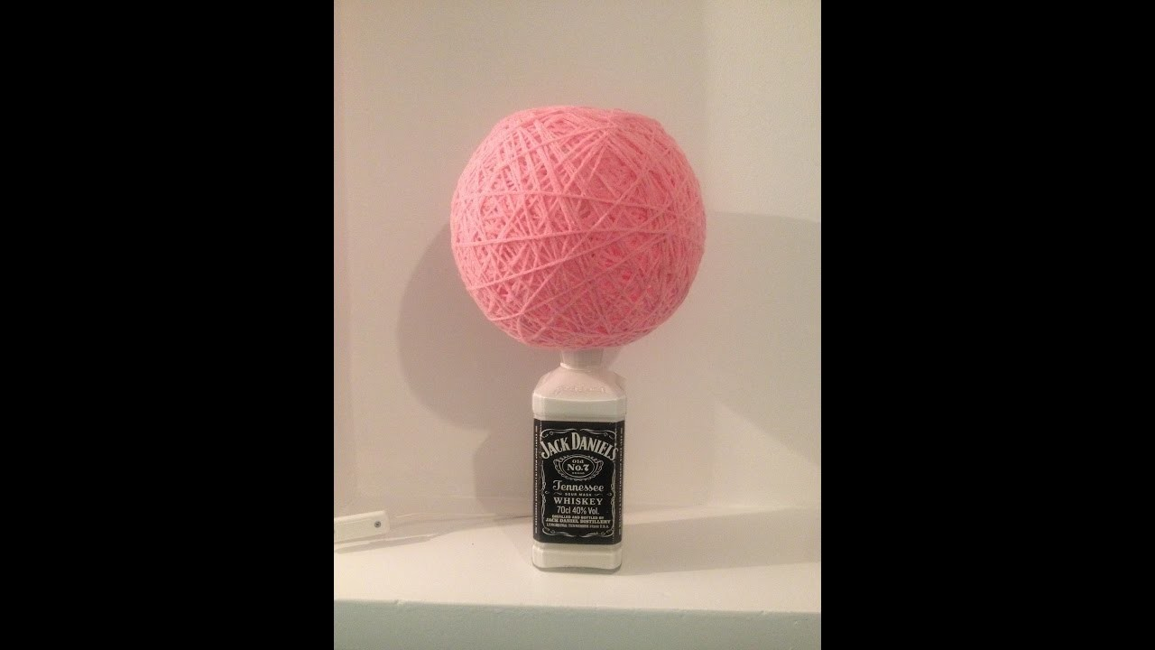 How to make a bottle lamp, YARN LAMPSHADE