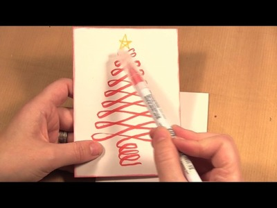 How to Make a Brush Marker Christmas Tree