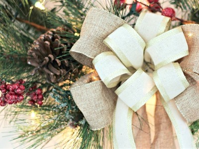 How to Make a Christmas Bow and Light a Wreath