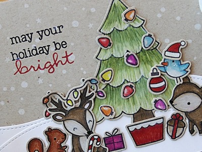 How to make a Christmas card with colored pencils