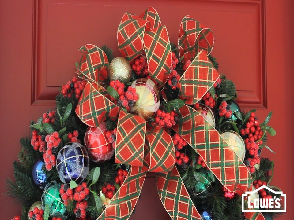 How To Make A Christmas Wreath Bow