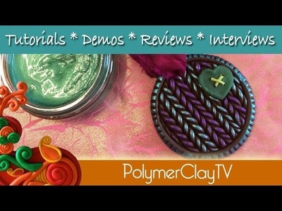 How to make a Faux Knit ornament antiqued with gilding polish and polymer clay