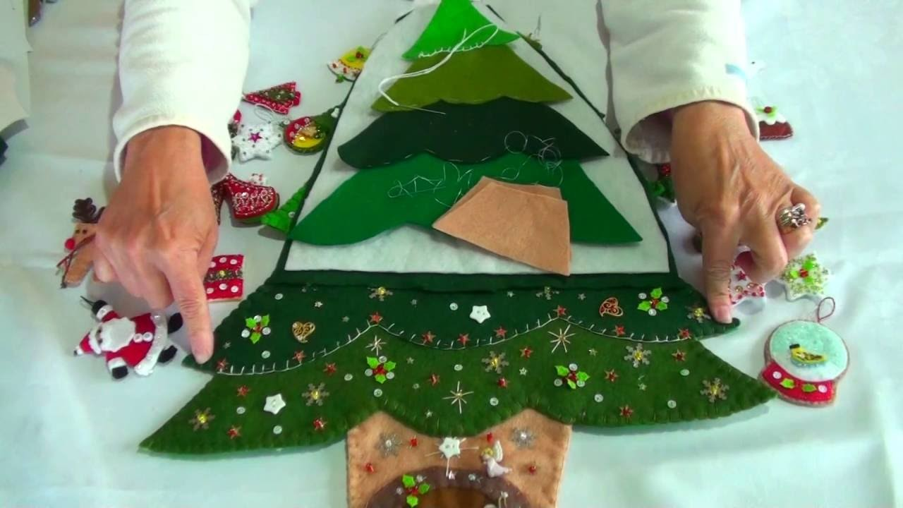 How To Make A Felt Christmas Tree For Small Spaces Tutorial
