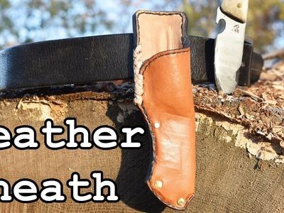 How to Make a Leather Knife Sheath