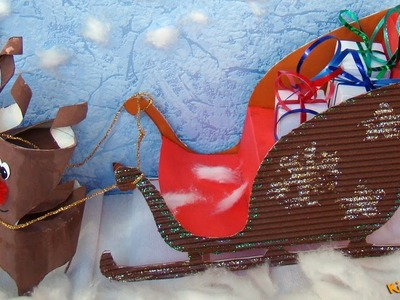 How to make a Santa Sleigh? Christmas decorations DIY
