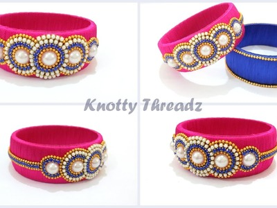 How to make a Silk Thread Designer Kada Bangle at Home | Tutorial !!