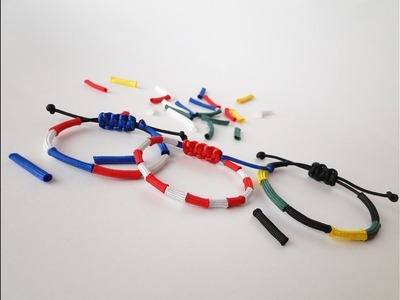 How to Make a Sliding Knot Paracord Friendship Bracelet Using Scraps - LEGO Themed