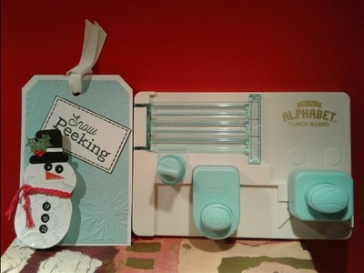 How To Make A Snowman With WRMK Mini Alphabet Punch board