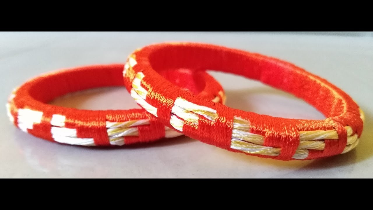 How to make Attractive design silk thread bangles