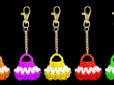 How To Make Crystal Beaded Keychain Simple And Easy At Home