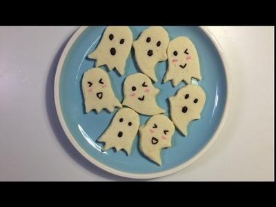 How To Make Cute Ghost Cookie | คุกกี้ผีน่ารักๆต้อนรับวันฮาโลวีน