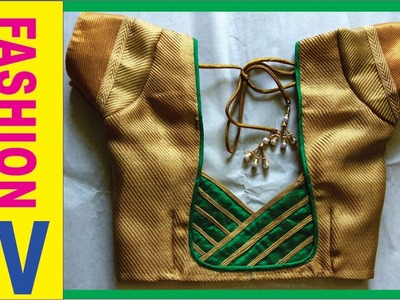 How to make Designer Blouse at Home-21