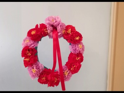How to Make Door Hanging with Crepe Paper Flowers