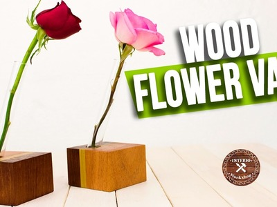 How to make Easy Wood Flower Vase |  Woodworking art projects | Interio Workshop