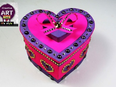How to make heart shaped box DIY | gift box| storage box| Art with creativity