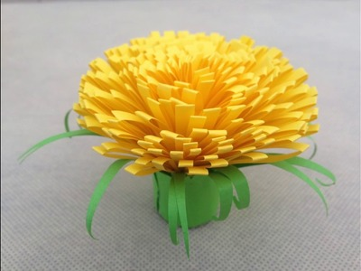 How to make marigold paper flower |Easy origami flowers for beginners making|DIY Idea