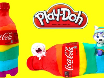 How to Make Rainbow Coca Cola Soda Bottle with Play Doh | Fizzy Toy Show