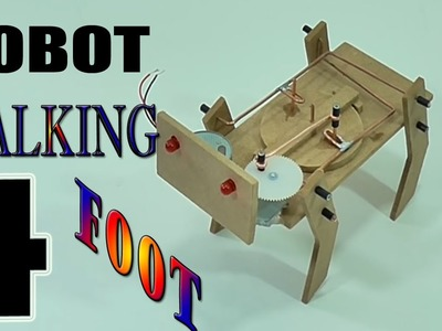 How to Make Robot 4-Foot Walking at Home | Homemade Robot Walking (very easy to do)