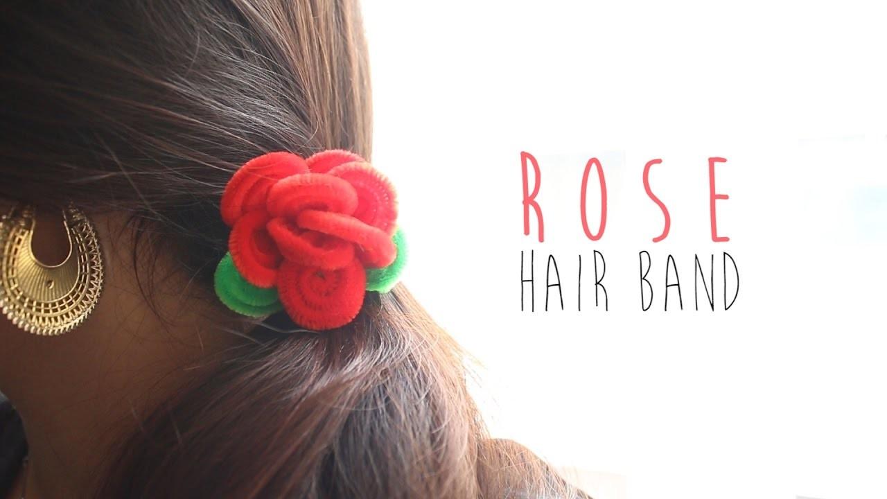 How to make Rose Hair Band